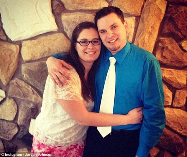 Murder charge: Jordan Graham with her husband, Cody Johnson, who she is accused of killing
