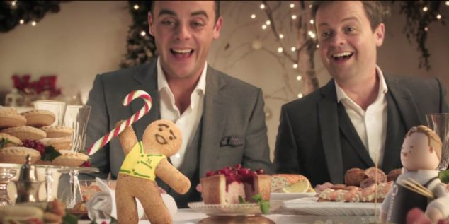 Strange: Do Ant and Dec pull it off? The dancing gingerbread man and 'crackling turkey' make it tough