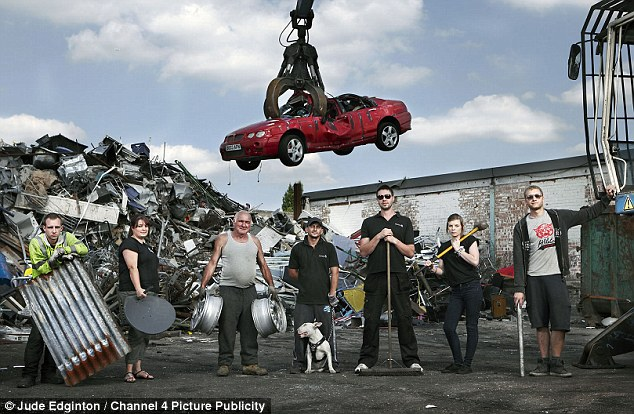 Lucrative: Staffed by a team of nine, Sydenham Scrap Metal turns over 10,000 tonnes and £7million a year