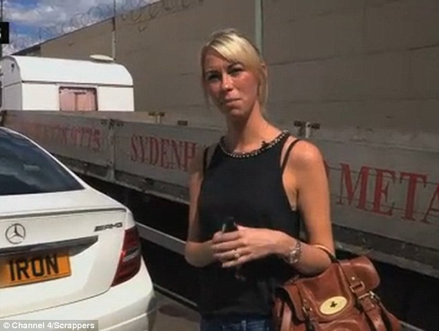 Rachel is the scrapyard boss' fiancee - she says people ask her if she is a footballer's wife when she's in her car