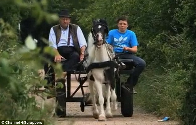 Family business: Charlie and his grandson Alfie, 15, scour south London in a pony and cart for scrap