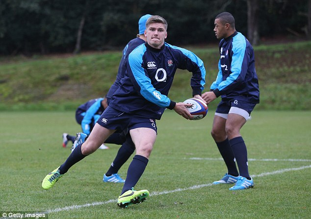 Itching: Owen Farrell and his team-mates are desperate to prove last year's win over New Zealand was no fluke