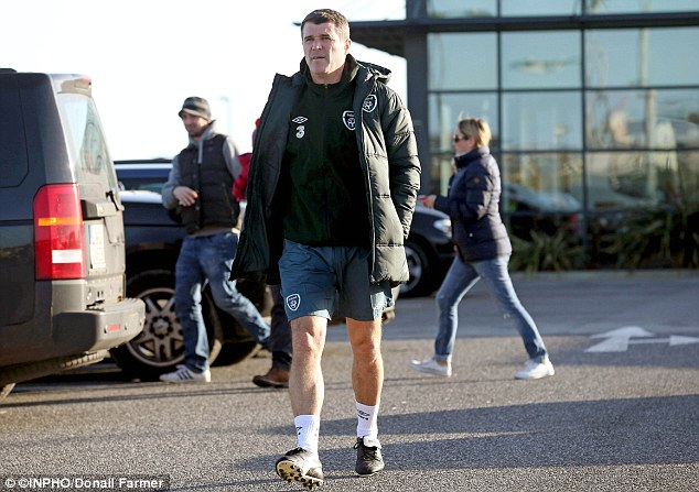 Arriving early: Keane arrives at Gannon Park, Malahide for the first day of his new job