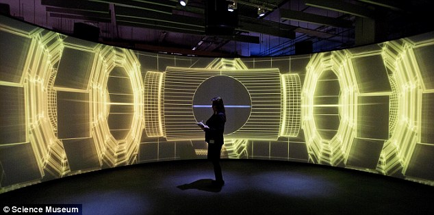 The 71-year-old professor made the claims during a sold-out event at London's Science Museum to celebrate the launch of its new Collider exhibition, pictured.