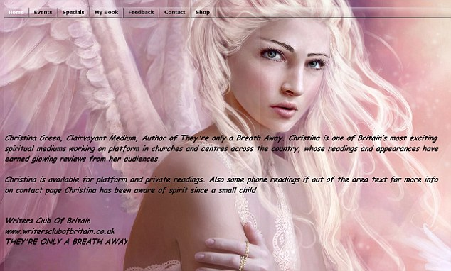 Spiritual: The clairvoyant's website describes her as 'one of Britain's most exciting spiritual mediums'