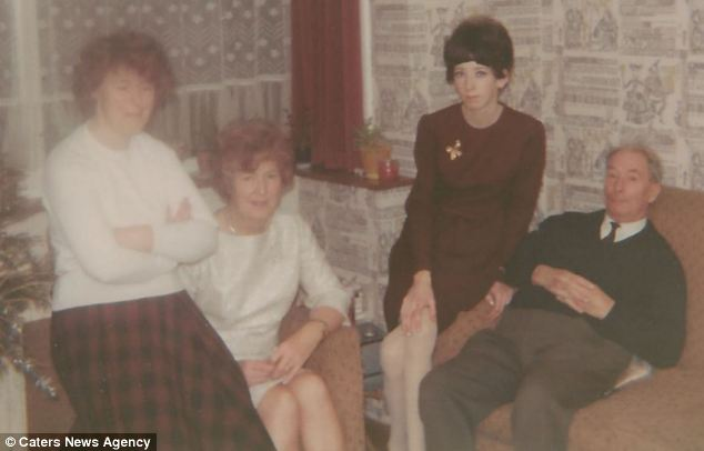 Dangerous: Her life has been a cycle of compulsive eating, laxatives and starvation. Here, Ms Kemp, second right, is pictured with her sister Sylvia and parents
