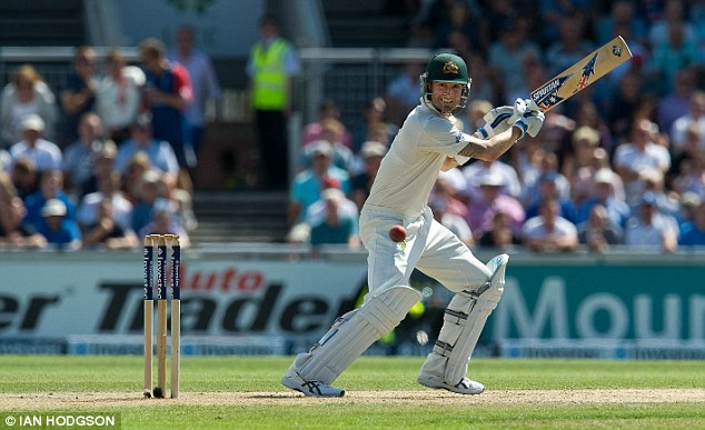 Star man: Aussie skipper Michael Clarke is their one world class batsman, but he does have weaknesses that England will feel they can target