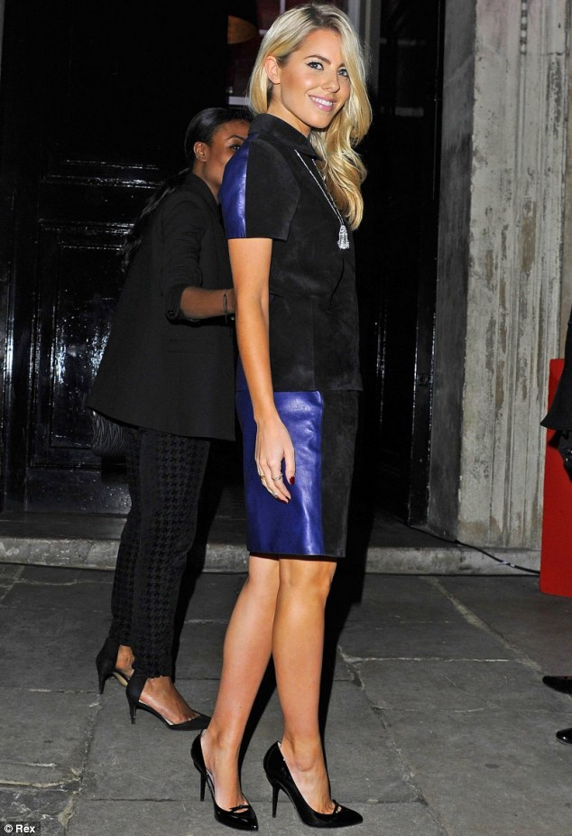 Suede love: The Saturdays' Mollie King went for understated glam at the British Heart Foundation Tunnel of Love party