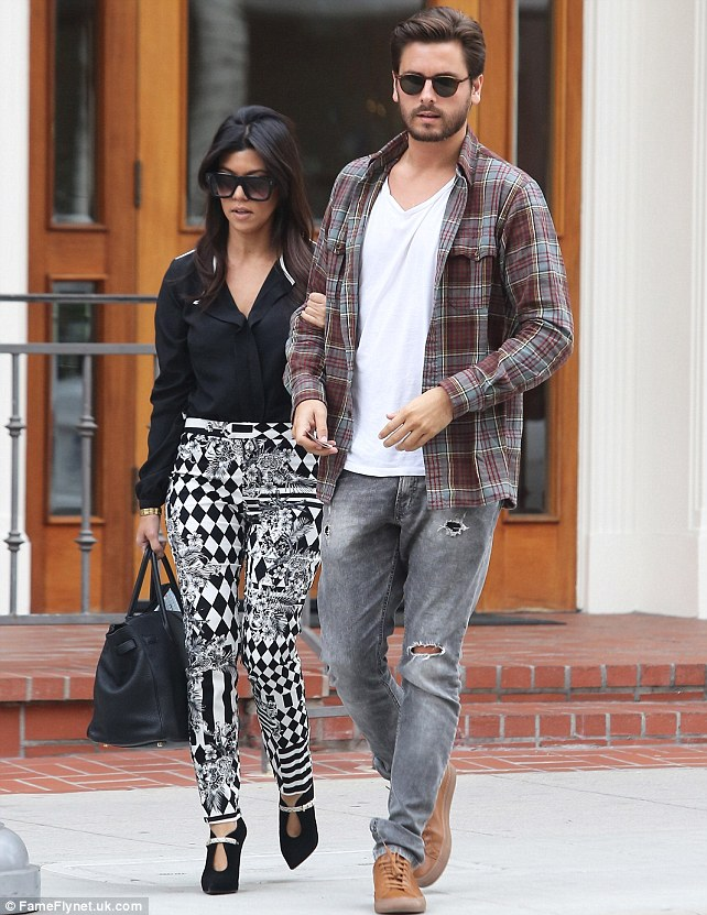 Holey trousers: Lord Disick stepped out in his proletariat pants dotted with holes