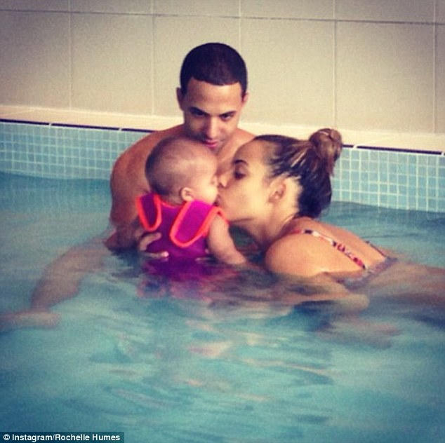 Proud parents: The couple welcomed their first child, daughter Alaia-Mai, into the world in May 2013