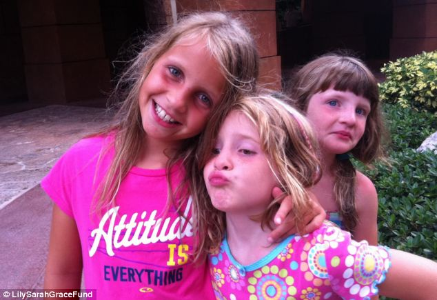 Badger lost nine-year-old Lily and seven-year-old twins, Sarah and Grace in a fire on Christmas morning 2011