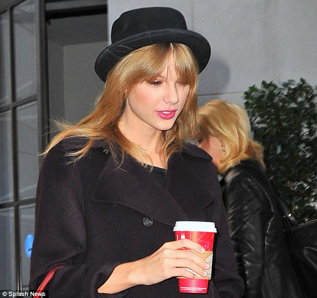 Sweet lid: The Back To December singer looked stylish in this chapeau