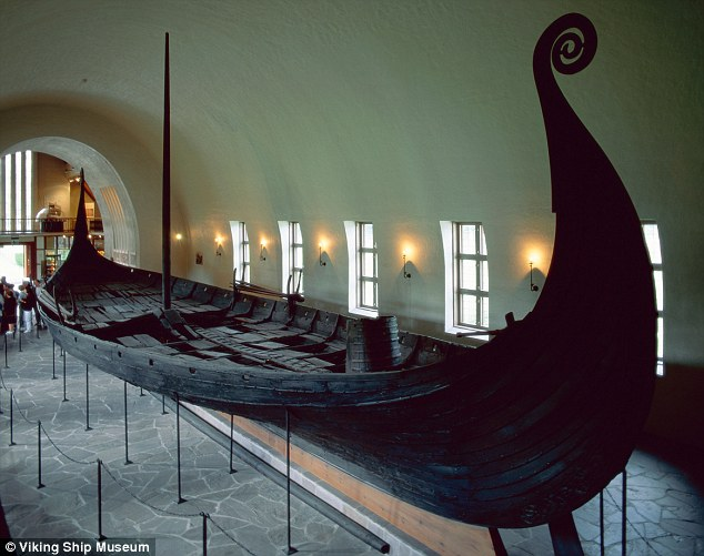 Spectacular: As the Oseburg Ship, found in a burial mound in Norway, reveals, art and war went together