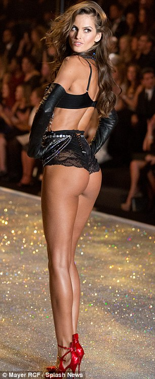 Rearly impressive: She looked fantastic from the front and bounteously beautiful from the back