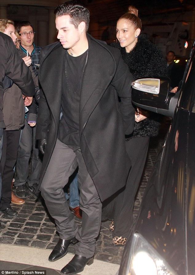 Date night: Casper Smart romanced his girlfriend Jennifer Lopez by taking her on a dinner date in Rome on Wednesday night