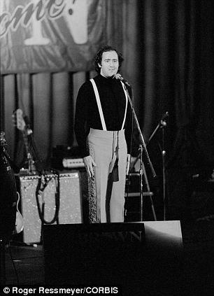 30 Sep 1982, Sacramento, California, USA --- Andy Kaufman at Jerry Brown Senate Campaign Rally --- Image by © Roger Ressmeyer/CORBIS