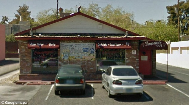 The fatal stabbing occurred at Champagne's Cafe on South Maryland Parkway in Las Vegas (pictured)