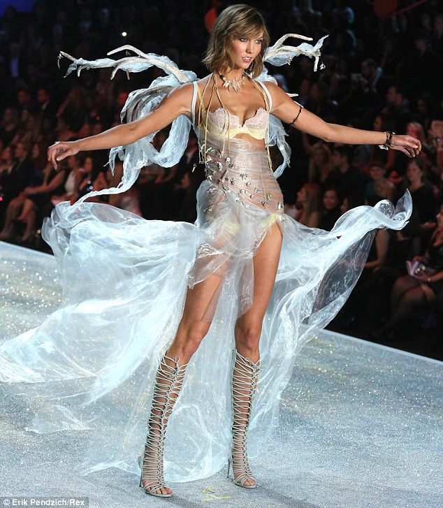Light as air: Karlie Kloss transforms into another fairytale outfit at the Victoria's Secret Fashion Show