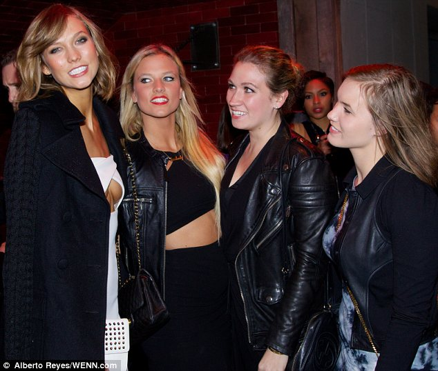 Pals: Karlie brought her close friends  to the after party at TAO Downtown