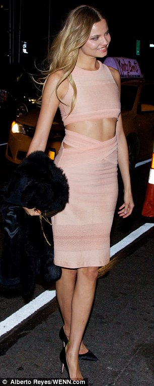 Party: Barbara Fialho and Magdalena Frackowiak partied after the VS show in New York
