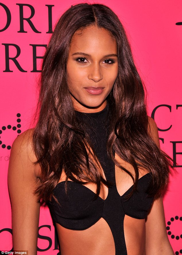 Assets on display: The top of Cindy Bruna's dress resembled a bra and showed a great deal of her cleavage
