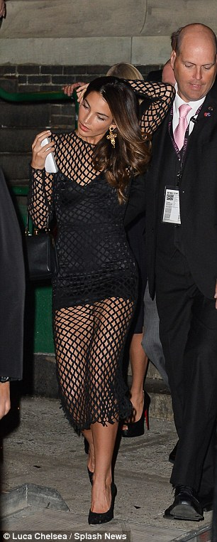 See-through: Lily Aldridge seen leaving the 2013 Victoria's Secret Fashion afterparty in a very revealing outfit