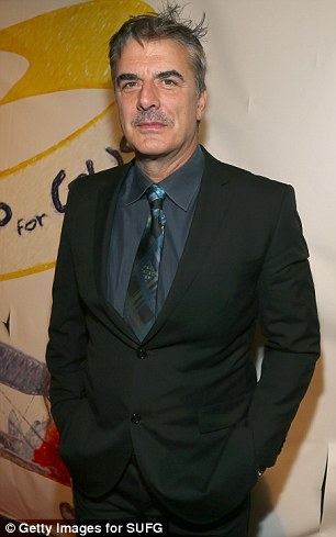 Mr Big and Mr Big Mouth: Chris Noth and Mel Gibson - on his best behaviour - were in the house