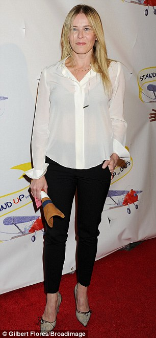 Casual: Nikki and Chelsea Handler both adhered to a conservative dress code