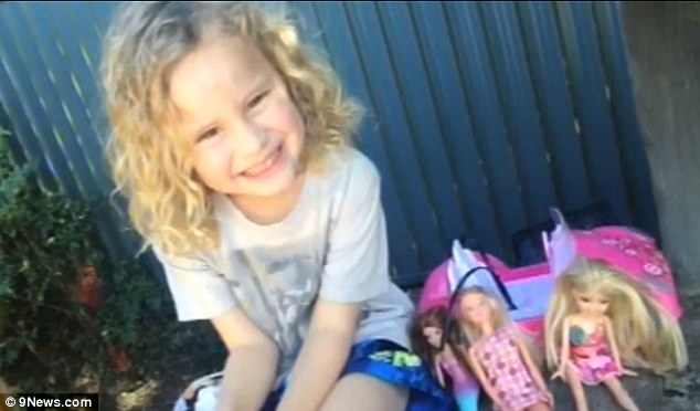 A new life: Five-year-old Skyler Burns looks every inch a happy and beautiful little girl