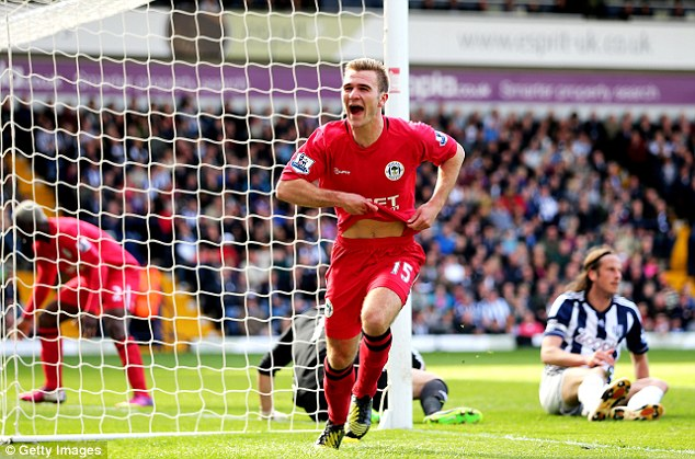 In with a shout: Hodgson was impressed with Callum McManaman's performances for Wigan last season but the winger will need to produce even more if he's to make it to Brazil