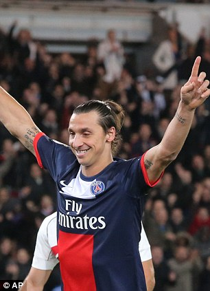 Making his point: Ibrahimovic can also decide games on his own
