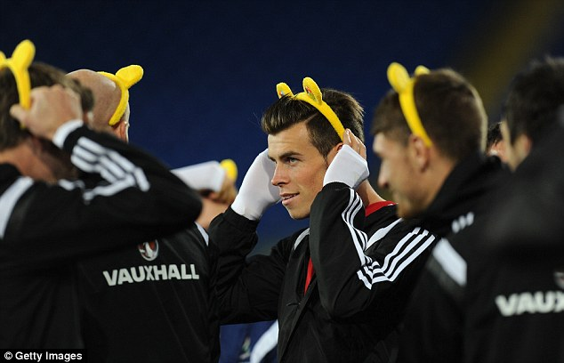 Poised: Saturday's game against Finland will be Bale's first start for Wales since joining Real Madrid