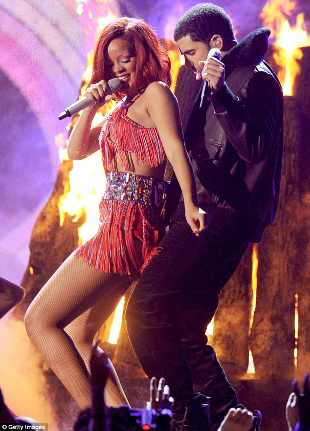 Fiery friendship: Rihanna and Drake - pictured here in 2011 - have been romantically linked to each other in the past