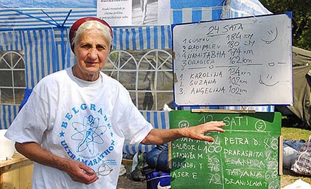 'I hope I will still be running at the age of 100!' says Andjelina Andjelic who, at 77-years-old runs ultra-marathons of 100 km each