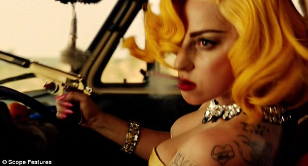 Siren: Lady Gaga is cool and sexy as she stars in Machete Kills