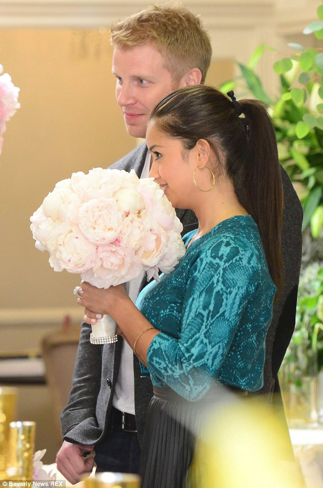 This could be the one! Catherine appeared particularly taken with a pink and cream bouquet