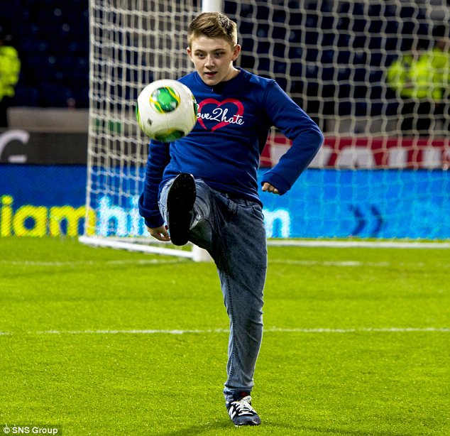 Keepy ups: McDonald shows off some nifty skills at Hampden
