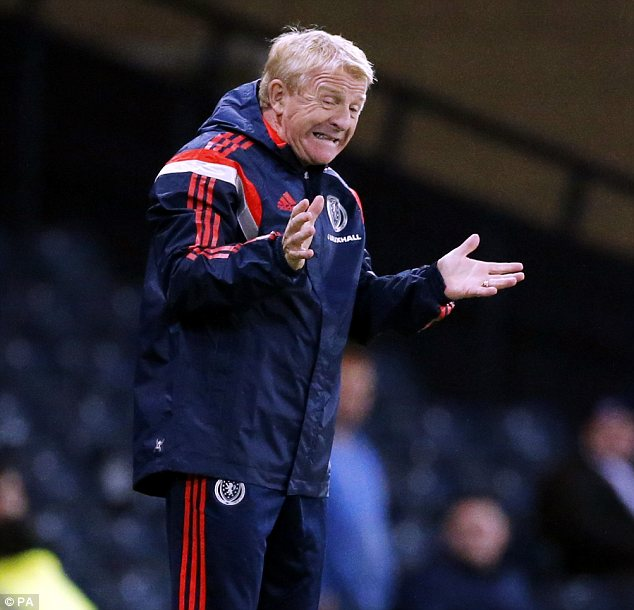 Encouragement: Scotland Manager Gordon Strachan