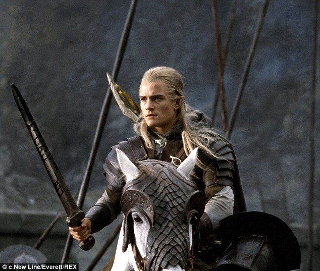 Lord of the Rings: Orlando played the role of Legolas in the Lord of the Rings trilogy where he was often seen sat astride a horse wielding a sword