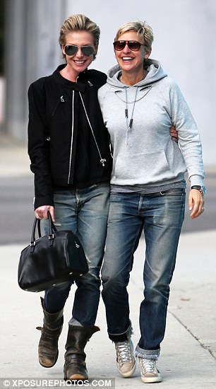 All smiles: The happy couple giggled and laughed while walking together in West Hollywood