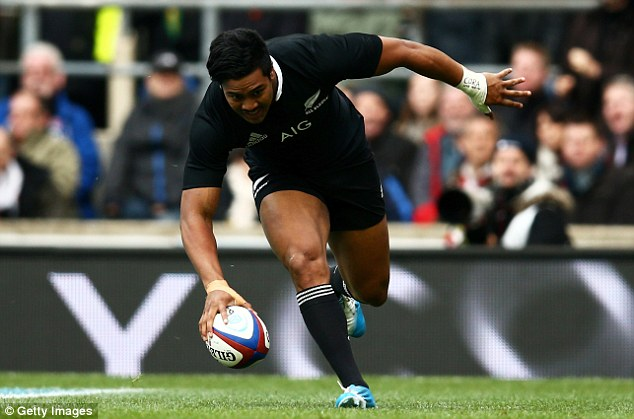 Nice start: Savea scored the first try for New Zealand following a delightful sequence of play