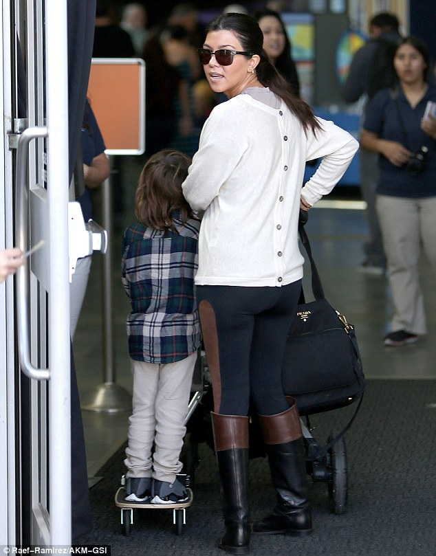 Where's Scott? Scott Disick was noticeably absent from the family outing