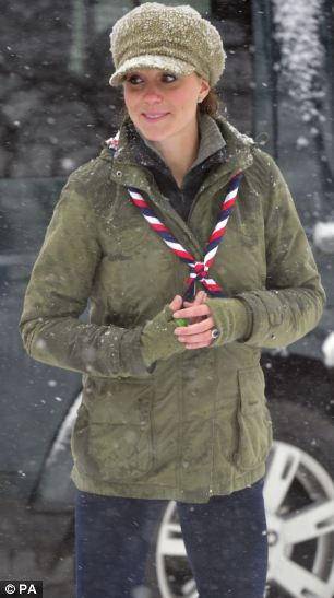 Helping hand: The Duchess of Cambridge has helped increase the ranks of much-needed Scout volunteers during her time as an occasional volunteer for the organisation