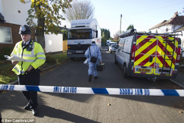 Probe: Police have launched a murder investigation after the body of a man was found down a well in Surrey