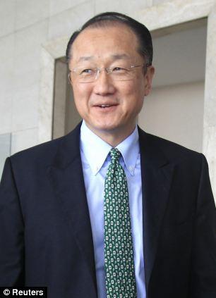 Davis was interviewing World Bank President Jim Yong Kim (pictured)
