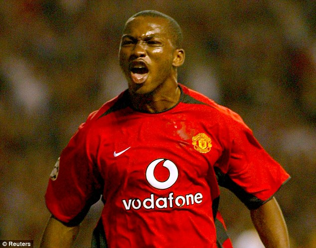 Champion goal: Djemba-Djemba's goal against Panathinaikos was a highlight of his United stint
