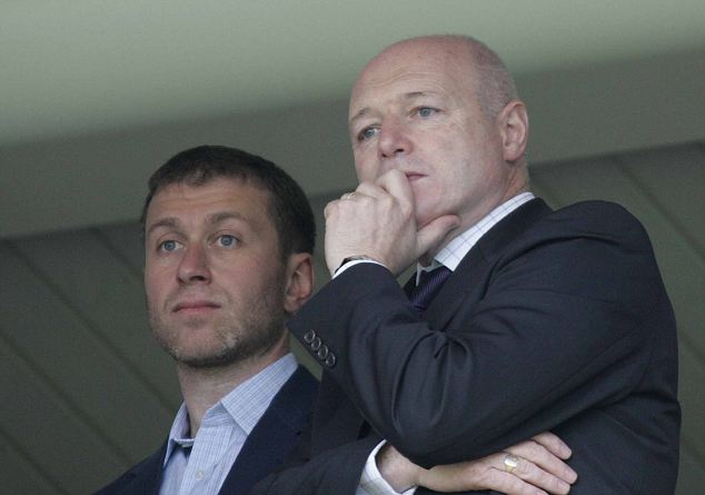 Chelsea owner Roman Abramovich and Chief Executive Peter Kenyon