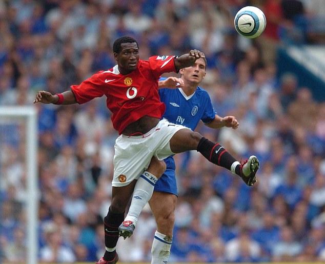 Short-lived: After 13 League appearances under Alex Ferguson, Djemba-Djemba was sold to Aston Villa