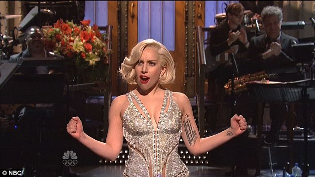 Vamp: Lady Gaga opened the show with a song and dance number