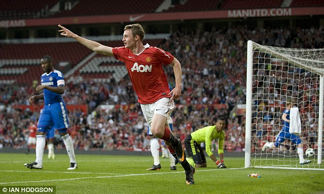 Hat-trick hero: Keane scored three in the FA Youth Cup semi-final, second leg as United beat Chelsea 4-0 in 2011